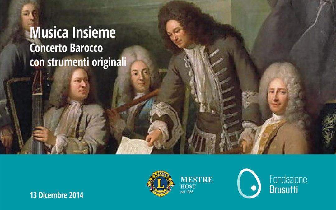Musica Insieme Concerto Barocco con strumenti originali Sabato, 13 Dicembre 2014 - Mestre Venezia
